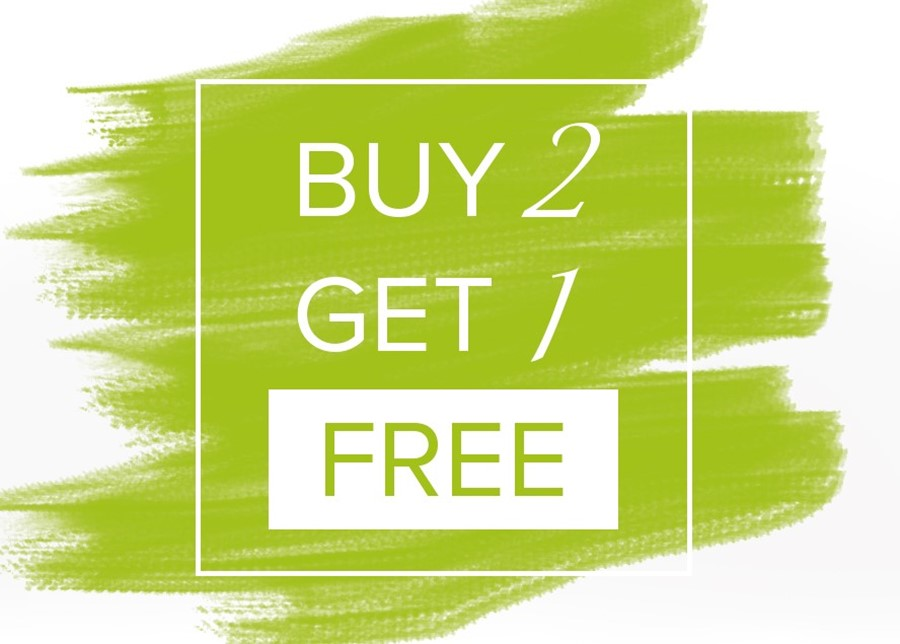 Buy 2 Get 1 Free Off Selected Products!